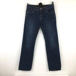 Lucky Brand Billy Straight Jeans Dark Wash Indigo